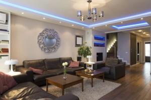 Fesselnd Bei Der Gründlichen Wohnzimmerbeleuchtung Ergänzen Sich Diverse Aufeinander  Abgestimmte Lichtquellen