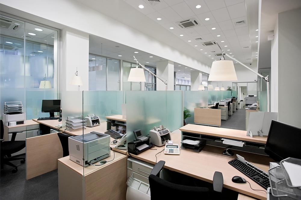 Arbeitsplatzbeleuchtung mit LED-Stehleuchten im Bundesrechnungshof ...