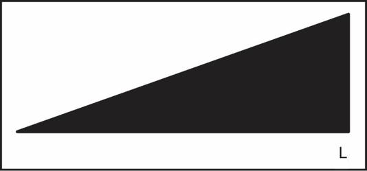 Liegendes Dreieck mit L-Kennzeichnung für Dimmer