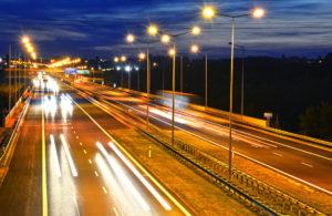 Lichtmasten Autobahn