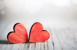 Herzen schenken am Valentinstag