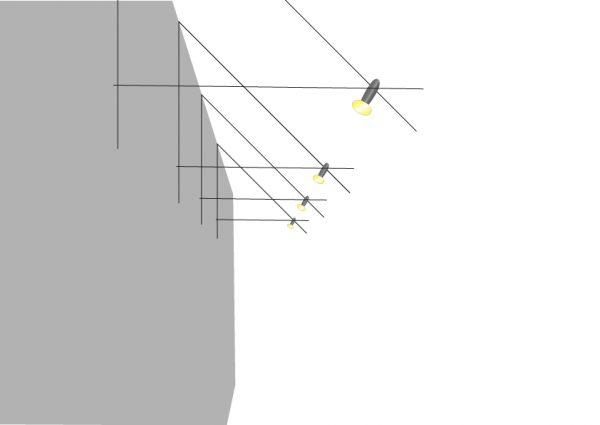 Seilsysteme an der Dachschräge