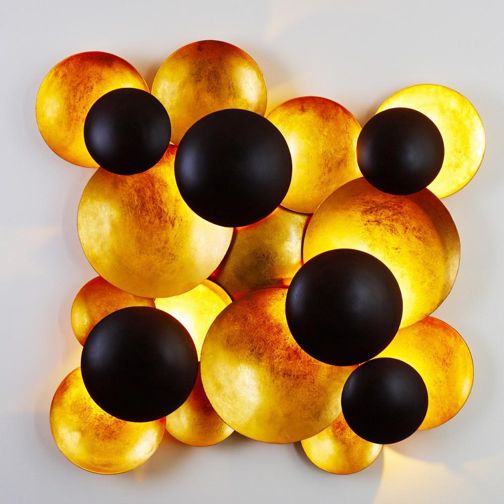 Lampen in Schwarz-Gold