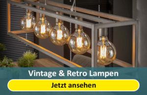 Vintage Lampen und Retro Lampen