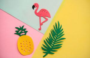 Ananaslampen und Flamingolampen