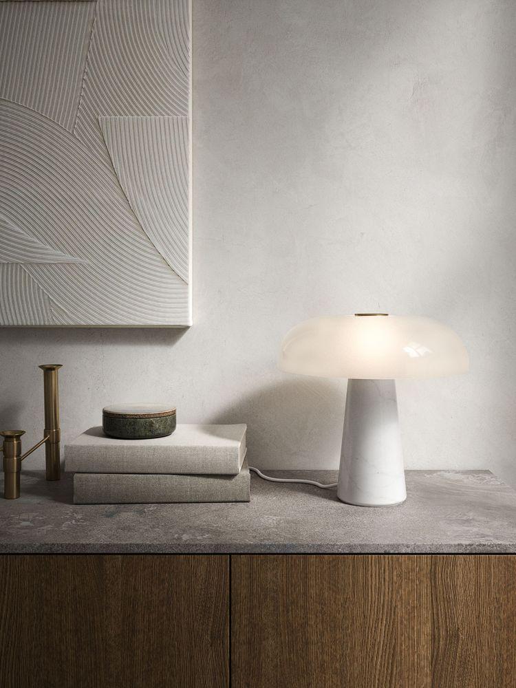 Marmor Tischlampe Glossy