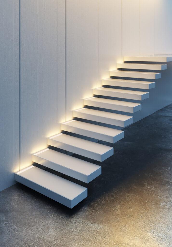 Beleuchtete Treppenstufen