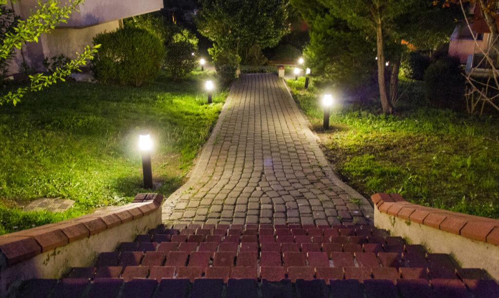 Wegeleuchten an der Treppe
