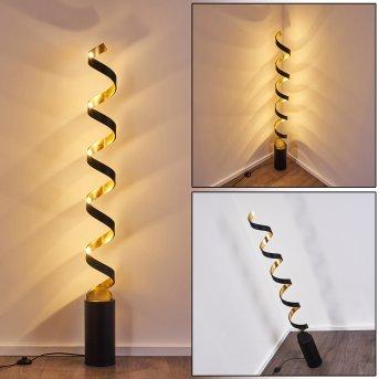 Rezat Stehleuchte LED Schwarz-Gold, 1-flammig