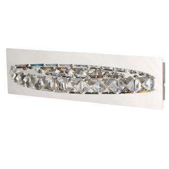 Searchlight CLOVER Wandleuchte LED Chrom, Silber, Transparent, Klar, 1-flammig