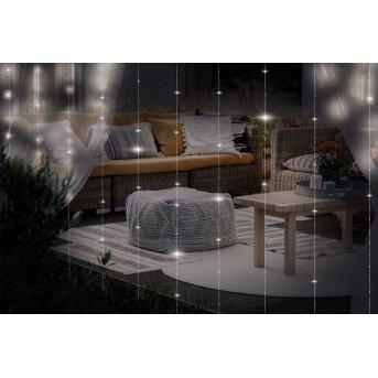 Globo  Lichterkette LED Transparent, Klar, 300-flammig, Fernbedienung