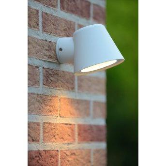 Lucide DINGO-LED Außenwandleuchte Weiß, 1-flammig