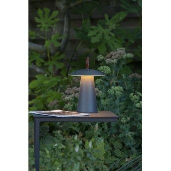 Lucide LA DONNA Tischlampe LED Anthrazit, 1-flammig