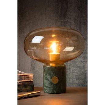 Lucide CHARLIZE Tischlampe Grün, Steinoptik, 1-flammig