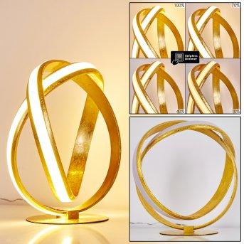 Woyens Tischleuchte LED Gold, 1-flammig