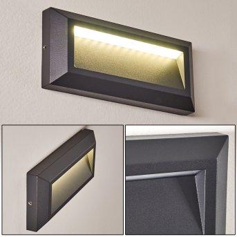 Alkmaar Außenwandleuchte LED Anthrazit, 1-flammig