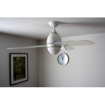 Globo Premier Ventilator Weiß, Transparent, Klar, 2-flammig, Fernbedienung