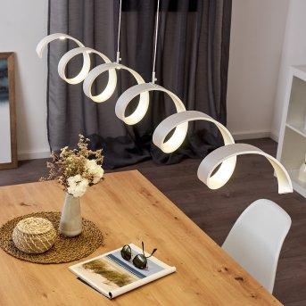 Rezat Deckenleuchte LED Weiß, 1-flammig