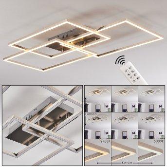 Cheka Deckenleuchte LED Aluminium, 3-flammig, Fernbedienung