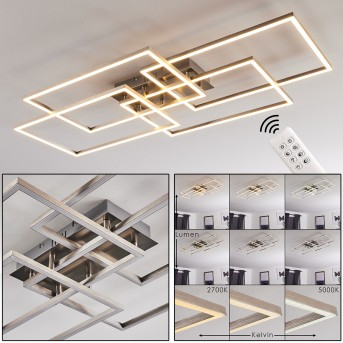 Cheka Deckenleuchte LED Aluminium, 4-flammig, Fernbedienung