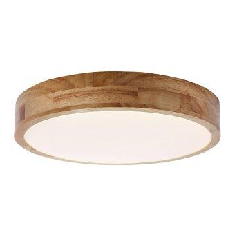 Brilliant Slimline Deckenleuchte LED Weiß, Holz dunkel, 1-flammig, Fernbedienung