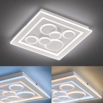 Fischer & Honsel Ratio Deckenleuchte LED Weiß, 1-flammig, Fernbedienung