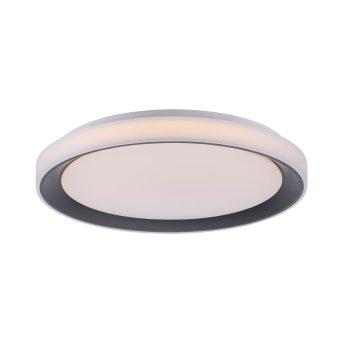 Leuchten Direkt LOLAsmart_DISC Deckenleuchte LED Schwarz, 1-flammig, Fernbedienung, Farbwechsler