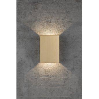 Nordlux FOLD Außenwandleuchte LED Messing, 2-flammig