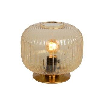 Lucide VIRGIL Tischlampe Messing, Gold, 1-flammig