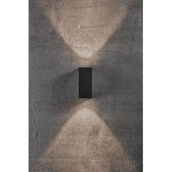 Nordlux ASBOL Außenwandleuchte LED Schwarz, 2-flammig