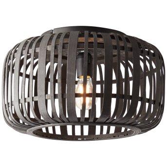 Brilliant WOODROW Deckenleuchte Schwarz, Holz dunkel, 1-flammig