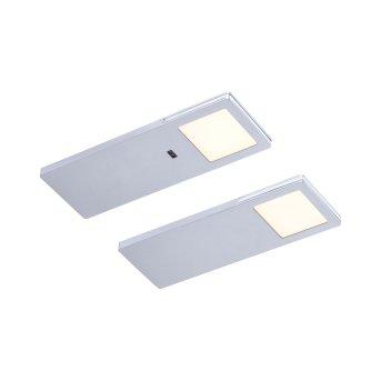 Paul Neuhaus AMON Unterbauleuchte LED Silber, 2-flammig, Bewegungsmelder