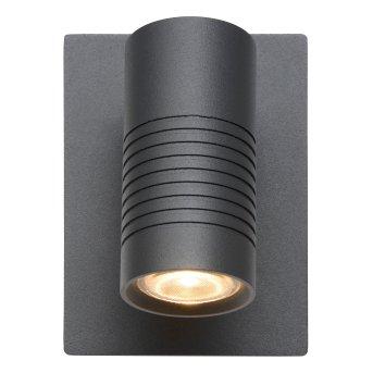 Lucide BRAN Außenwandleuchte LED Anthrazit, 1-flammig