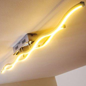 EMMA Deckenleuchte LED Edelstahl, 2-flammig