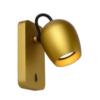 Lucide PRESTON Wandstrahler LED Messing, Gold, 1-flammig