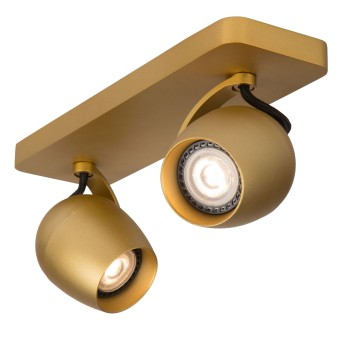 Lucide PRESTON Deckenstrahler LED Messing, Gold, 2-flammig