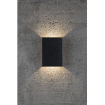 Nordlux FOLD Außenwandleuchte LED Schwarz, 2-flammig