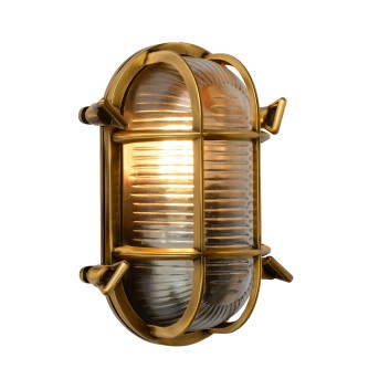 Lucide DUDLEY Außenwandleuchte Messing, Gold, 1-flammig