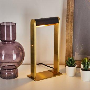Denhigh Tischleuchte LED Messing, Schwarz, Gold, 1-flammig