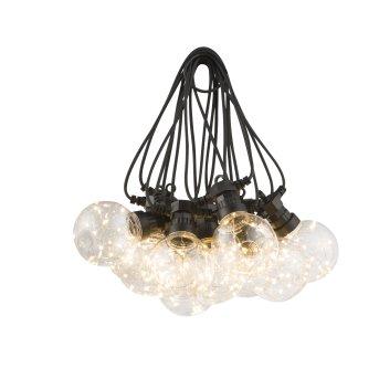 Globo ALMAGA Lichterkette LED Schwarz, 10-flammig