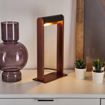 Denhigh Tischleuchte LED Schwarz, Kupferfarben, 1-flammig
