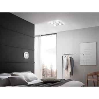 Grossmann AP Wandleuchte LED Grau, Aluminium, 1-flammig