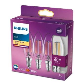 Philips LED 3er Pack E14 40 Watt 2700 Kelvin 470 Lumen