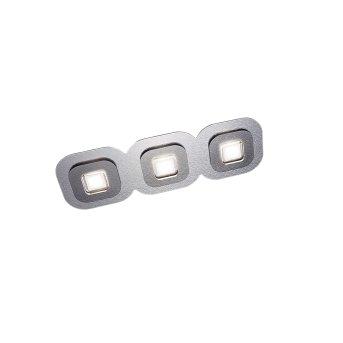 Grossmann AP Deckenleuchte LED Grau, Aluminium, 3-flammig