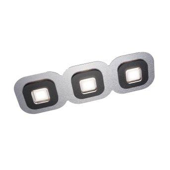 Grossmann AP Deckenleuchte LED Schwarz, Aluminium, 3-flammig