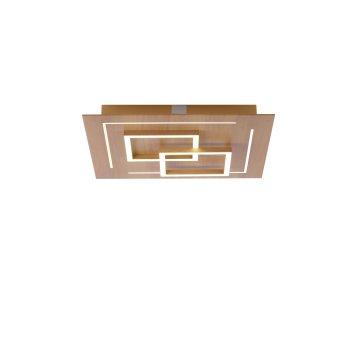 Paul Neuhaus Q-LINEA Deckenleuchte LED Holz hell, 4-flammig, Fernbedienung