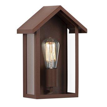 KS Verlichting Casa Außenwandleuchte Rostfarben, 1-flammig
