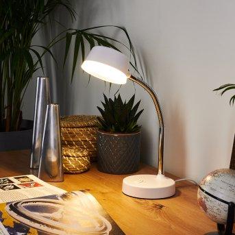Pineda Tischleuchte LED Chrom, Weiß, 1-flammig