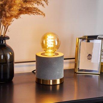 Weruga Tischleuchte Grau, Gold, 1-flammig