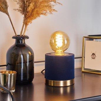 Weruga Tischleuchte Blau, Gold, 1-flammig
